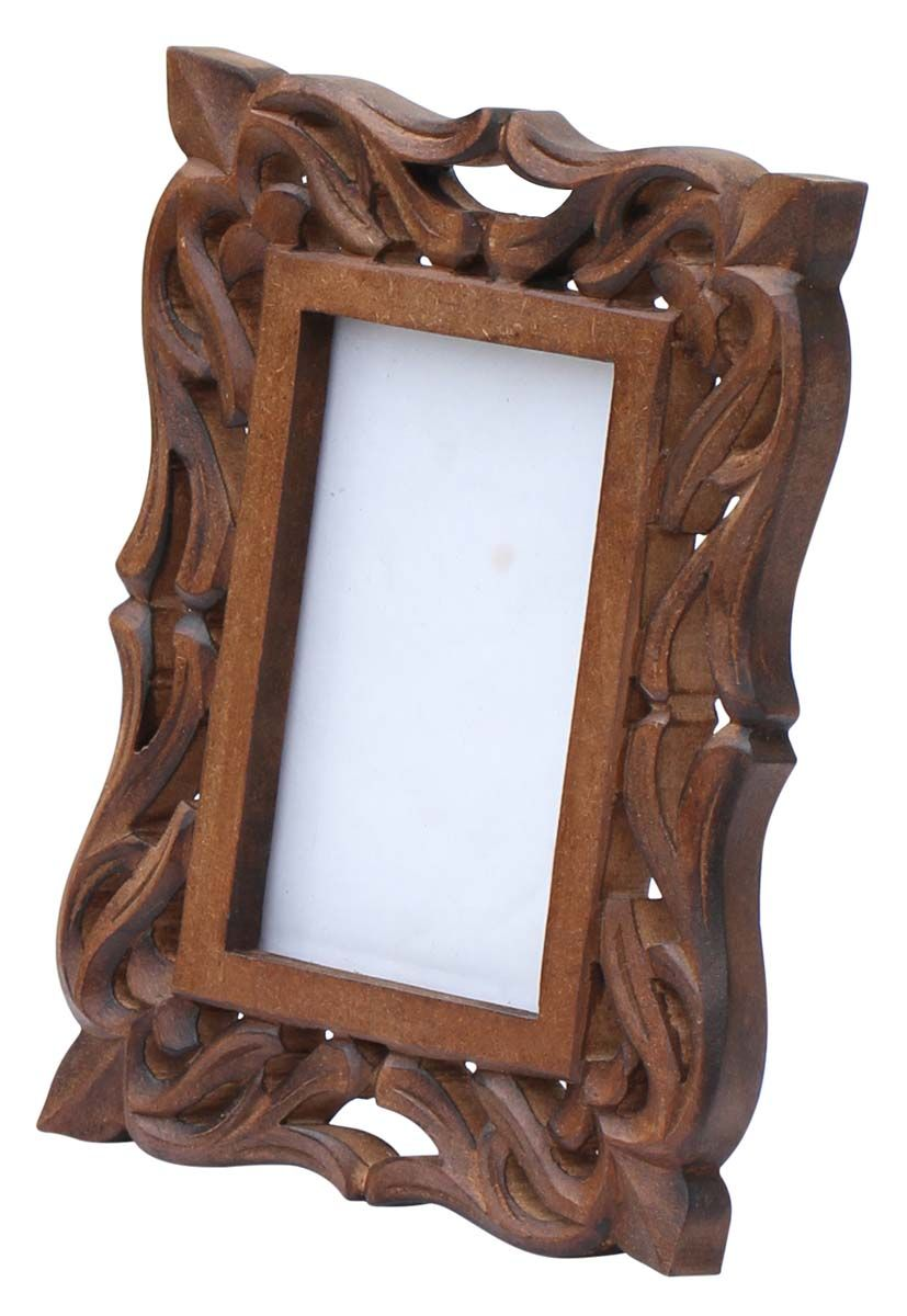 Enigmatic Moments – Hand-Carved 4x6 Wooden Photo-Frame/ Picture ...