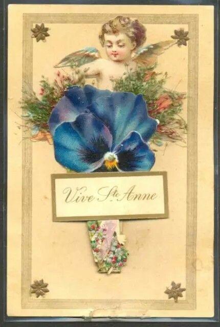 Vintage pansy postcard