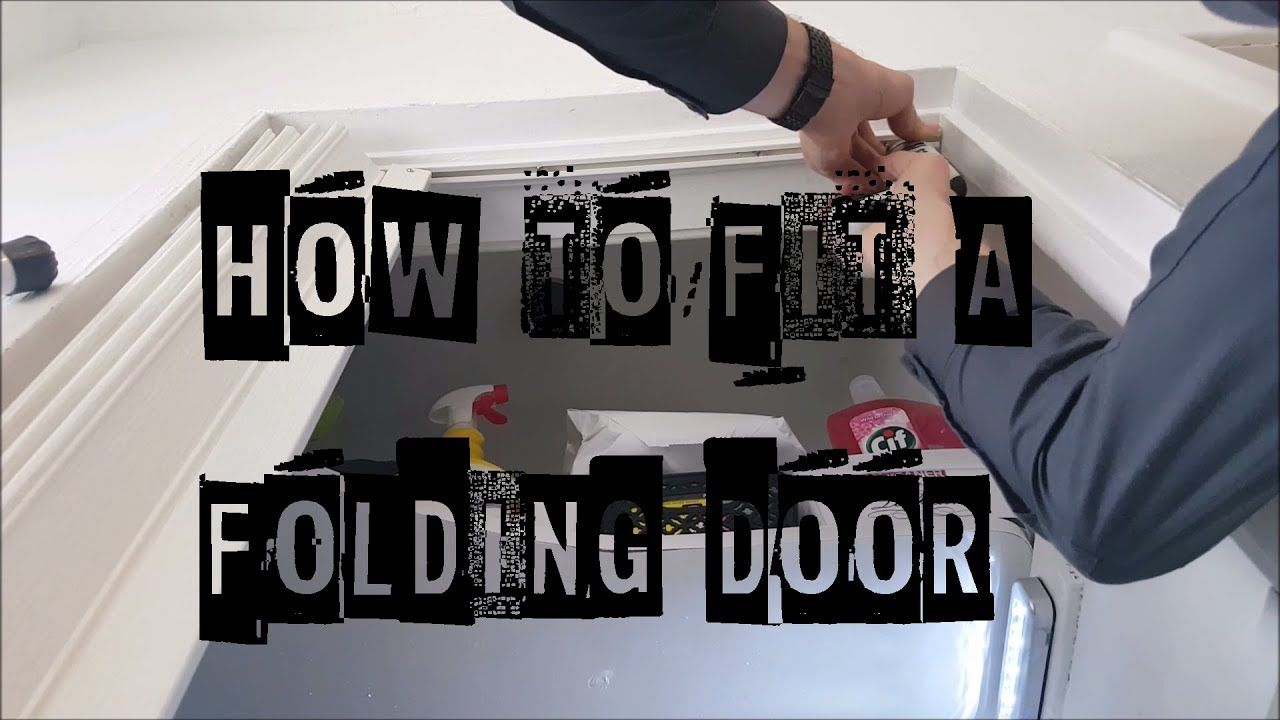 How to Install Folding Doors how to correctly fit and install a PVC ...