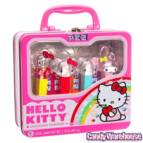 b99fc788e hello kitty candy box | Home Gifts Hello Kitty PEZ Candy Dispensers:  4-Piece Collector Tin