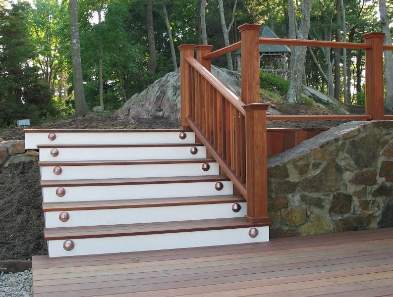 Best Deck Stairs Railing Ideas Construction Of Two Level 400 x 300