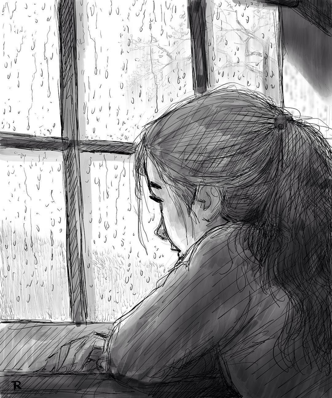 "1,982 mentions J'aime, 14 commentaires - John Ripa (@johnripa) sur Instagram : ""Rain 7. #quicksketch #linedrawing #rain #window #reflection #mood #time #ipadpro #ipadproart…"""