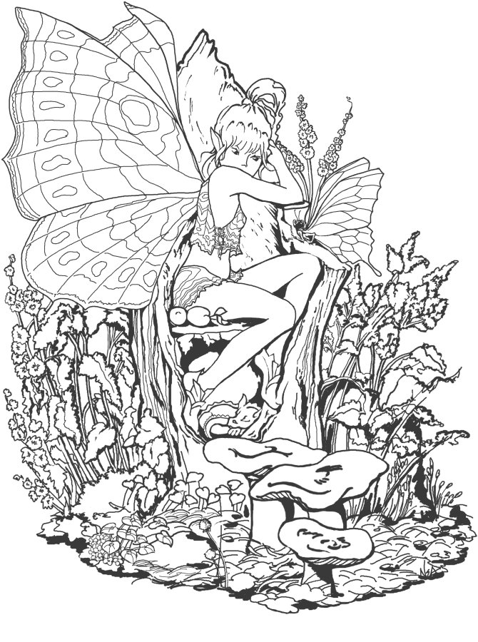 Links to several printable coloring pages for grown-ups, including ...