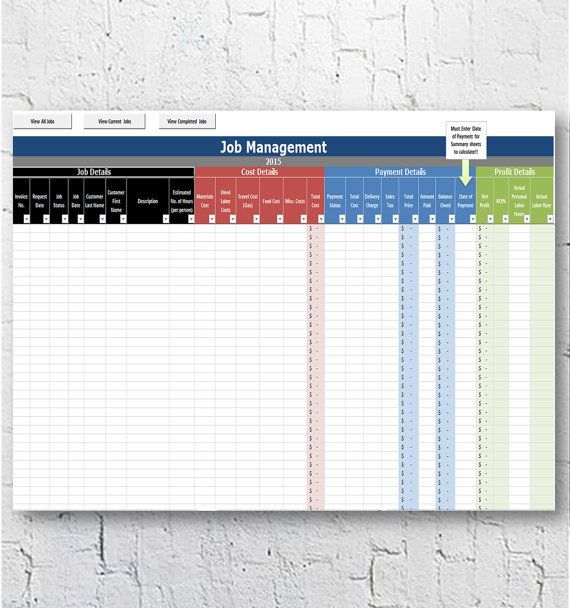 Need to manage your home based cleaning business? You need this Home - roi spreadsheet