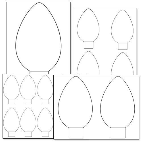 Get Free Christmas Bulb And Ornament Patterns For Scrapbooking