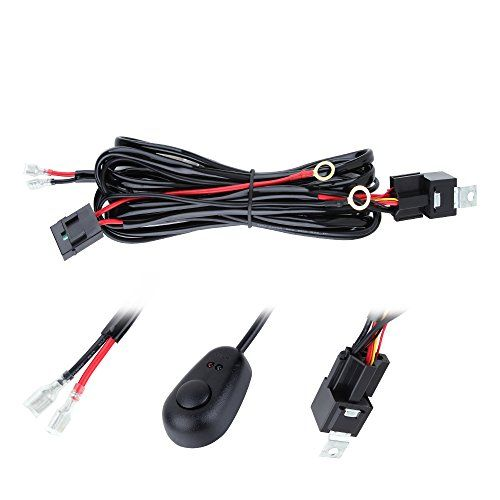 Annt Waterproof 3m 10ft 12v 40a Off Road Led Offroad Led Light Bar Wiring Kits Wiring Harness For High Watt Led Bar With 40 Amp Power Relay Fuse On Off Toggle