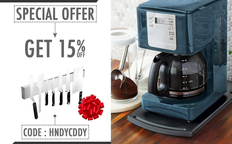 Multiuse Kitchen Caddy Sliding Coffee Tray Mat 12a Premium Abs 2