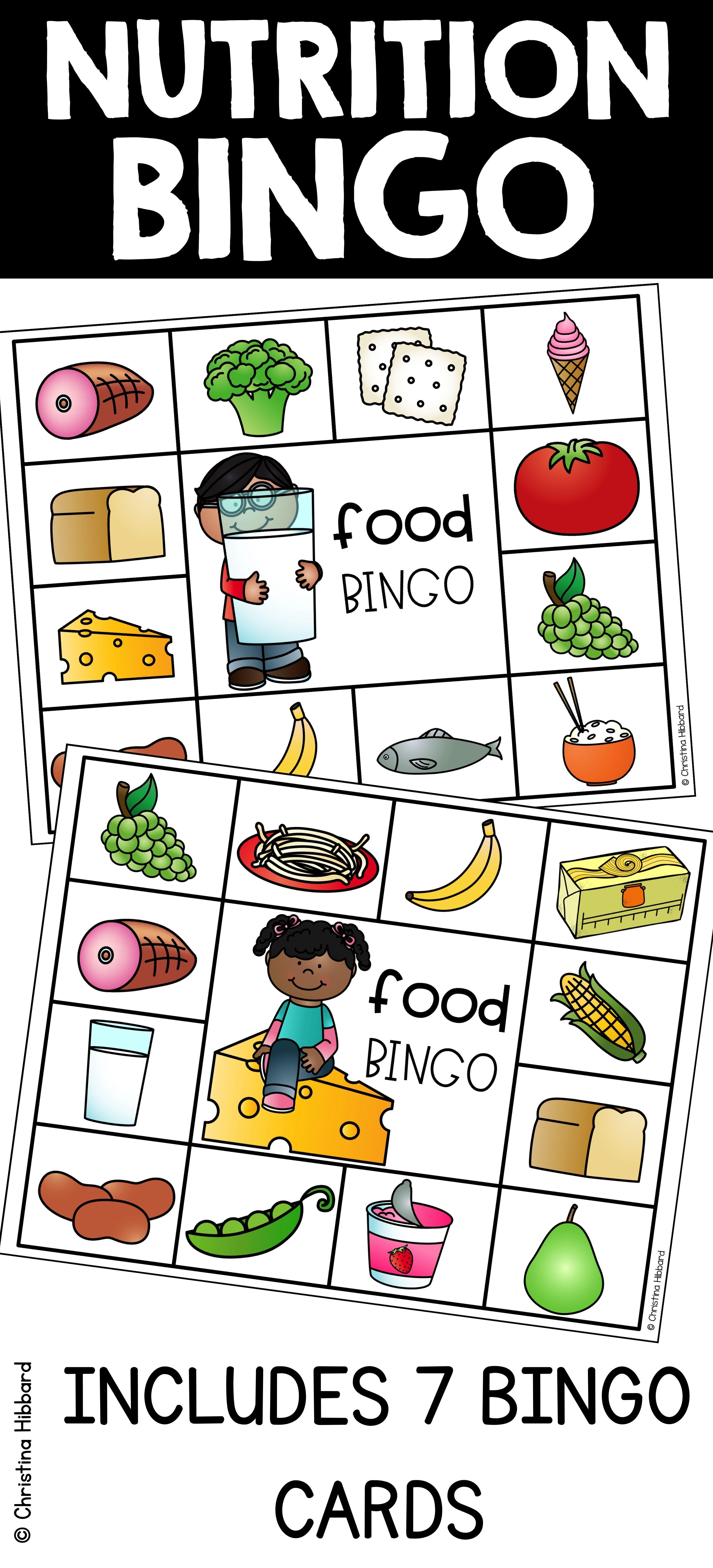 Nutrition Bingo Nutrition Activities Nutrition Month Activities Nutrition