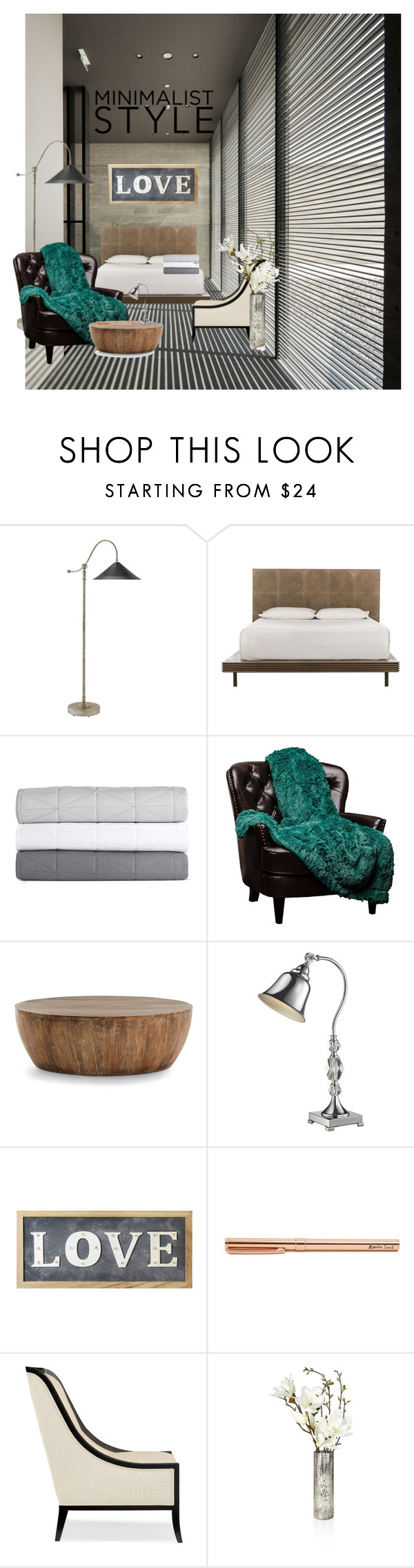 """""""Minimalist style"""" by luvstyle93 ❤ liked on Polyvore featuring interior, interiors, interior design, home, home decor, interior decorating, Brooks, Design Within Reach, Arteriors and Dale Tiffany"""