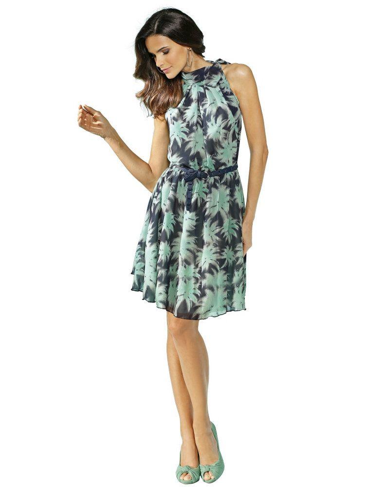 robe d 39 t imprim feuilles couleur vert menthe robe mode et mode accessoires