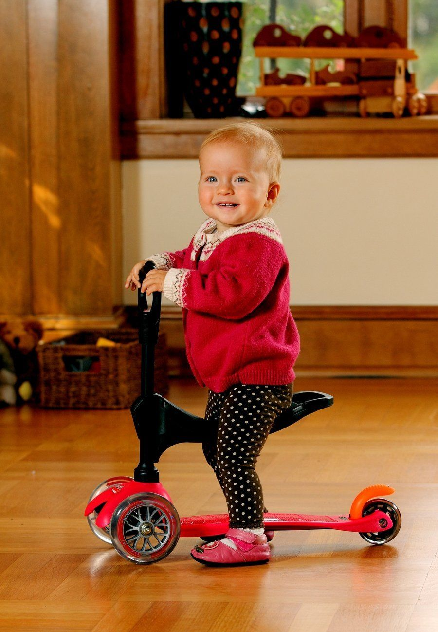micro mini 3 in 1 kick scooter pink sports kick. Black Bedroom Furniture Sets. Home Design Ideas