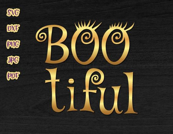 happy halloween svg files for cricut saying bootiful boo