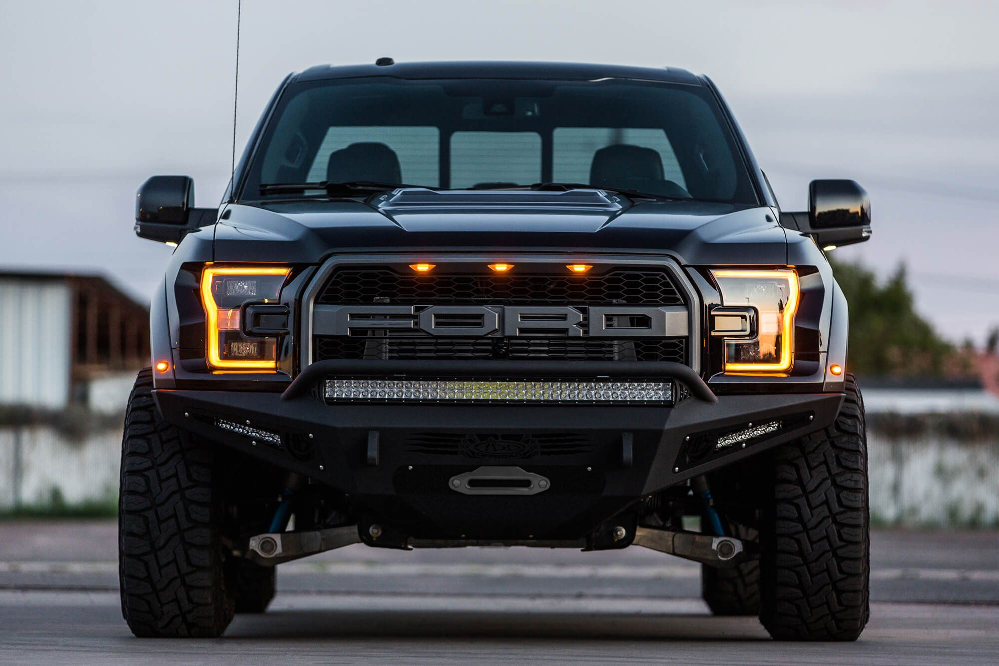 Buy 2017 ford raptor honeybadger winch front bumper