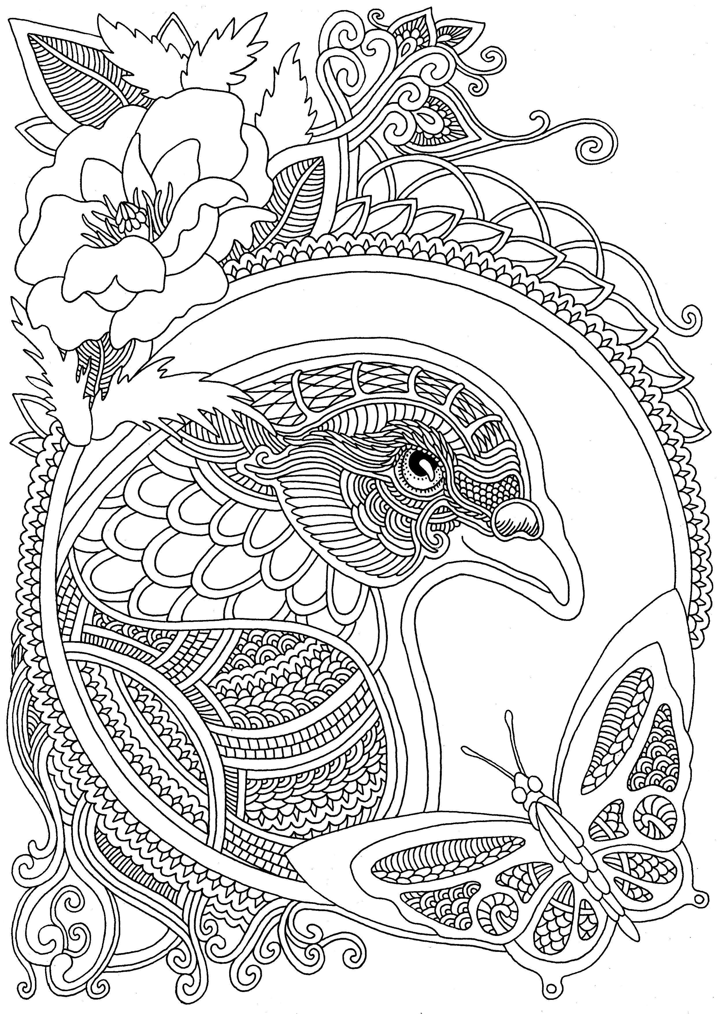 ветер уносит цветы - Buscar con Google | Bird coloring ...