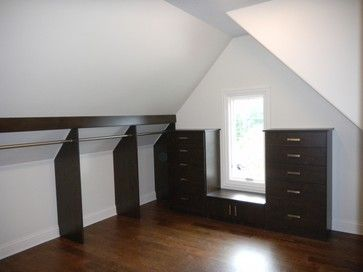 Walk In Closet W Slanted Ceiling