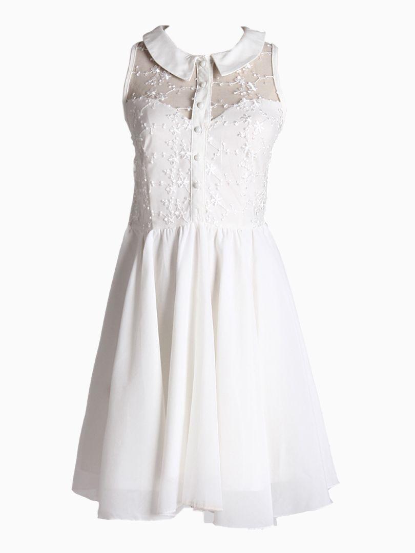 Sleeveless dress with lace detail choies pinb pinterest