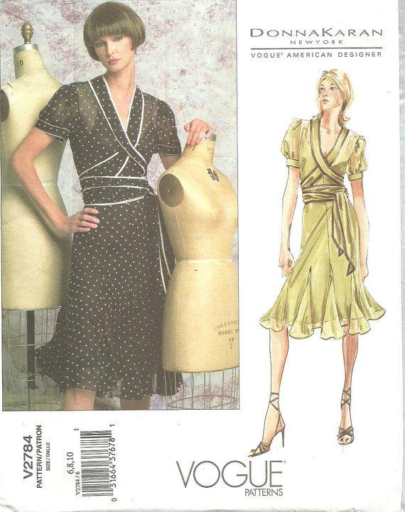 Vogue 2784 / Designer Sewing Pattern By Donna Karan / Dress And Bias ...