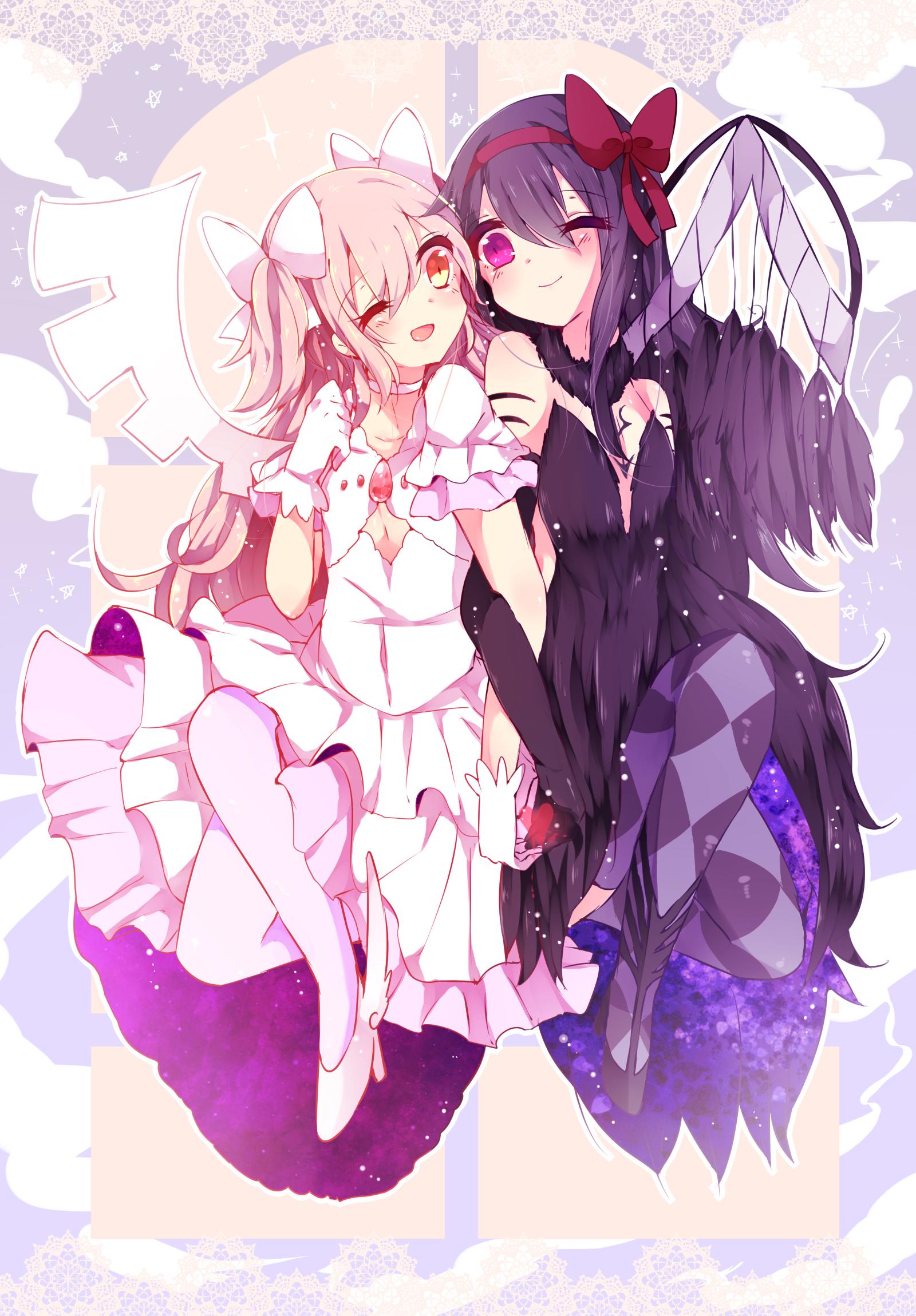 Goddess Madoka And Demon Homura