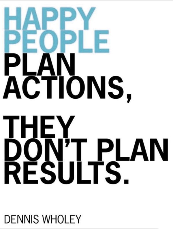 Plan Actions Not Results Quotes Action Quotes Happy Quotes Quotes