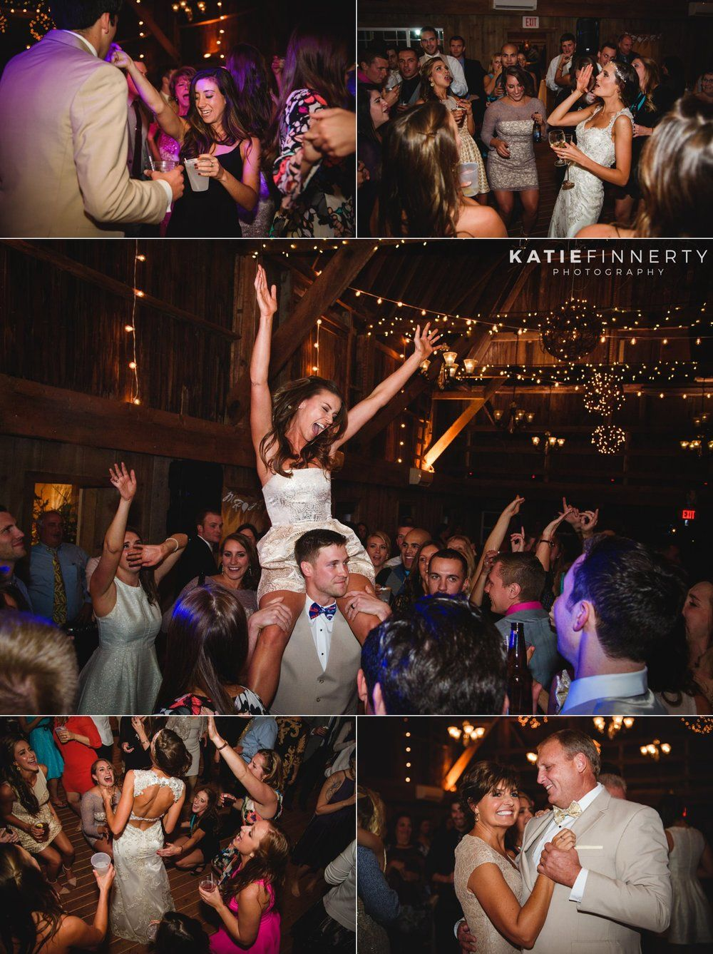 Dance Candids During This Barn Wedding Reception At Twin Silos In Livonia