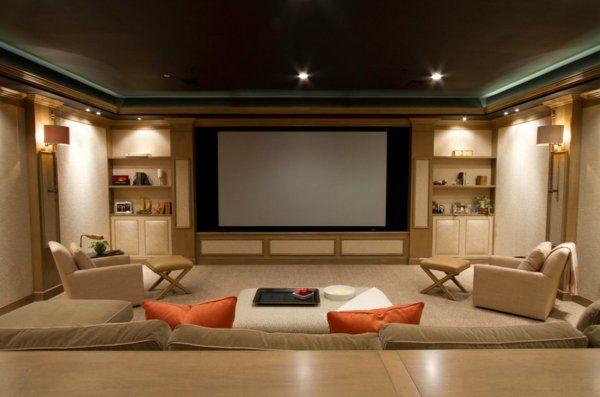 weiße möbeln für das heimkino Home Theater Projector Pinterest - heimkino wohnzimmer ideen