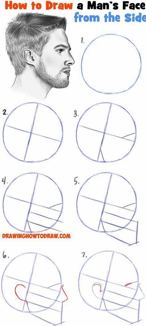 Como Dibujar Una Cara De La Pagina De Perfil Paisaje Hombre Hombre Paso A Paso Tutoriale Pasos Para Dibujar Rostros Dibujos De Caras Como Dibujar Una Cara