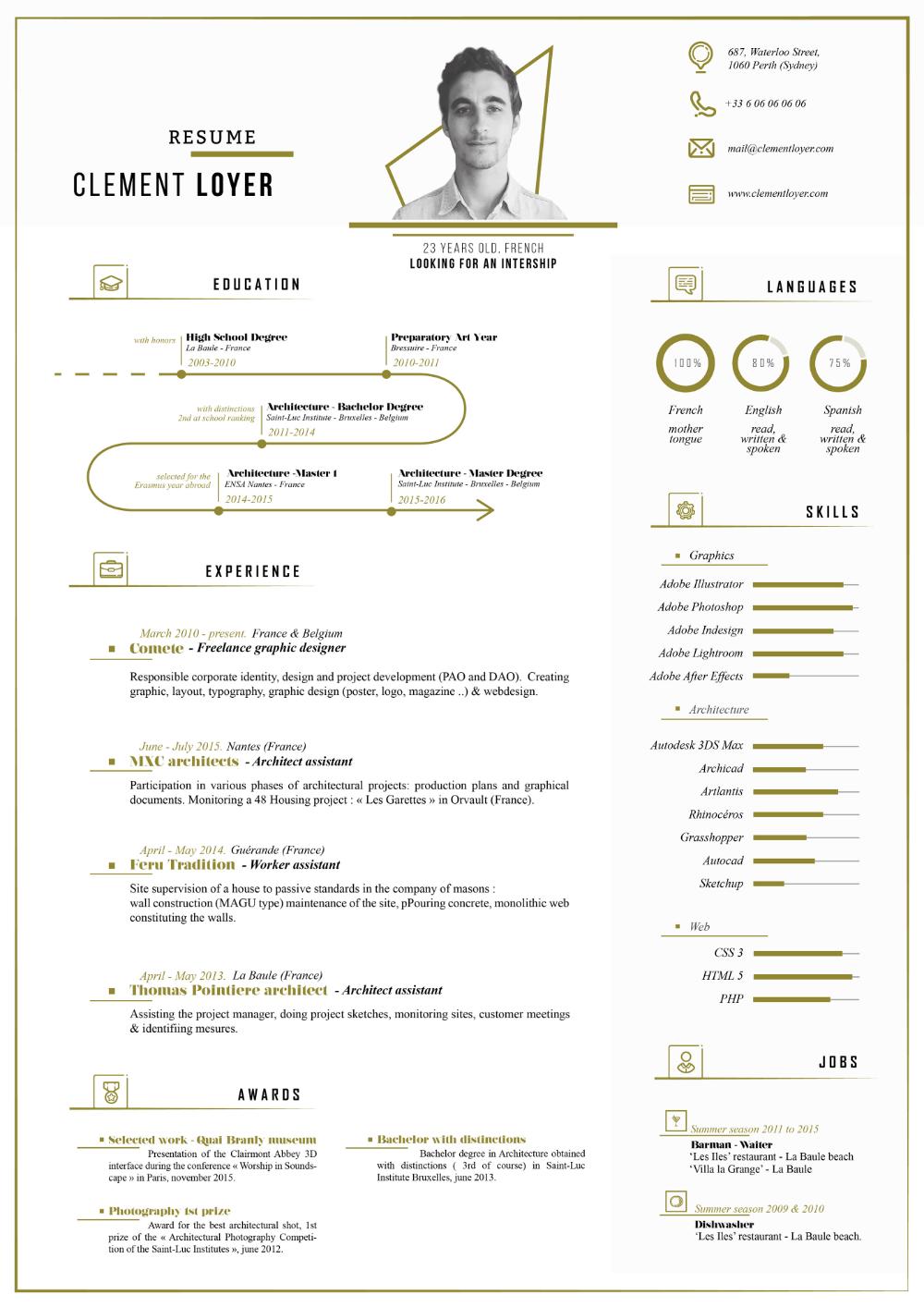 2016 Personal Resume on Behance en 2020 Cv créatif