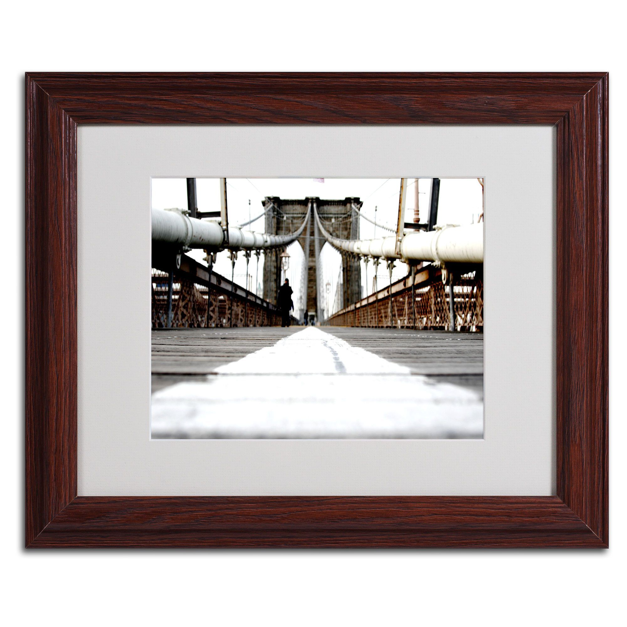 'Brooklyn Bridge' by Yale Gurney Matted Framed Photographic Print