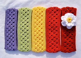 Free Pattern Crochet Granny Stripe Headbandearwarmer To Make