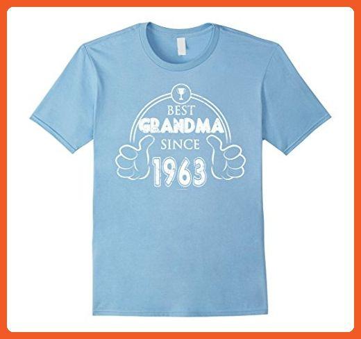 Mens Great Grandma Birthday Shirt Best Since 1963 Small Baby Blue