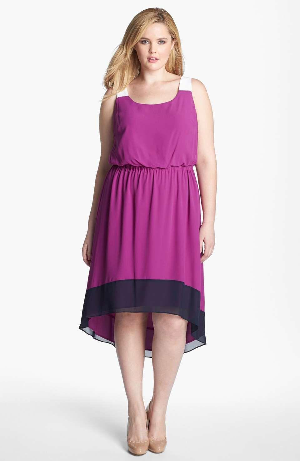 Jessica Simpson Colorblock Dress (Plus Size) | I is curvey | Pinterest