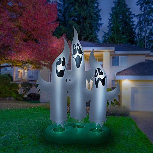 Outdoor Inflatable Halloween Ghost Lighted Airblown Lawn Yard Fun Decor 10  Ft #InflatableHalloweenDecorations - Outdoor Inflatable Halloween Ghost Lighted Airblown Lawn Yard Fun