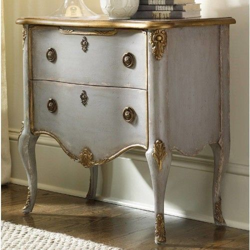 Small Accent Couch: Small Accent Chest#Antique#French Style#Living Room