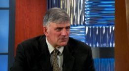 """Conservative Christian minister Franklin Graham has recently taken to multiple talk shows to speak on the re-election of President Barack Obama, saying that more Christians should have turned out to vote, and suggesting that America may need a """"complete economic collapse"""" before turning to God.  Read more at http://global.christianpost.com/news/god-may-bring-america-to-its-knees-says-disappointed-franklin-graham-85223/#d7MZSgDUyPDPu0xT.99"""