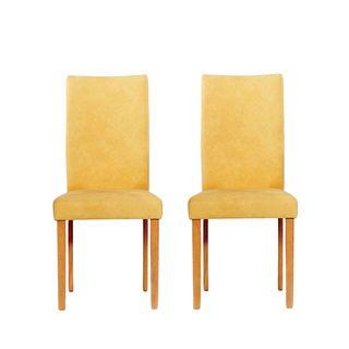 Warehouse Of Tiffany Shino Mustard Faux Leather Chairs (Set Of 2) (Shino  Mustard Leather Chairs (Set Of 2)), Brown