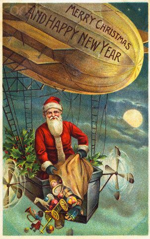 Merry Christmas and Happy New Year Postcard, 1900-1920