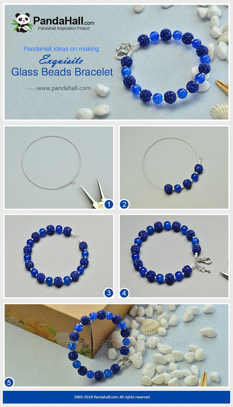 Beebeecraft Ideas On Making Exquisite Glassbeads Bracelet