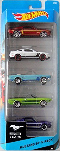 hot wheels mustang 50th 5-pack '69 ford mustang / 2010 ford