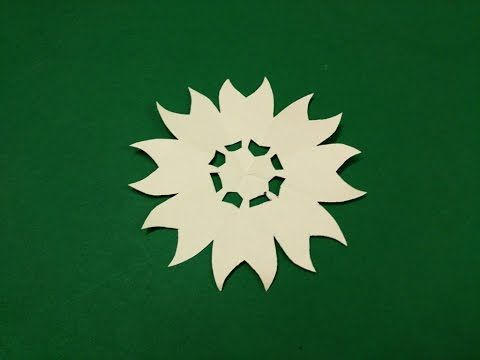 How to make simple easy paper flower 3 kirigami paper how to make simple easy paper flower 3 kirigami paper cutting craft videos tutorials mightylinksfo