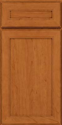 KraftMaid Cabinets -Square Recessed Panel - Veneer (PDC) Cherry in Honey Spice from waybuild