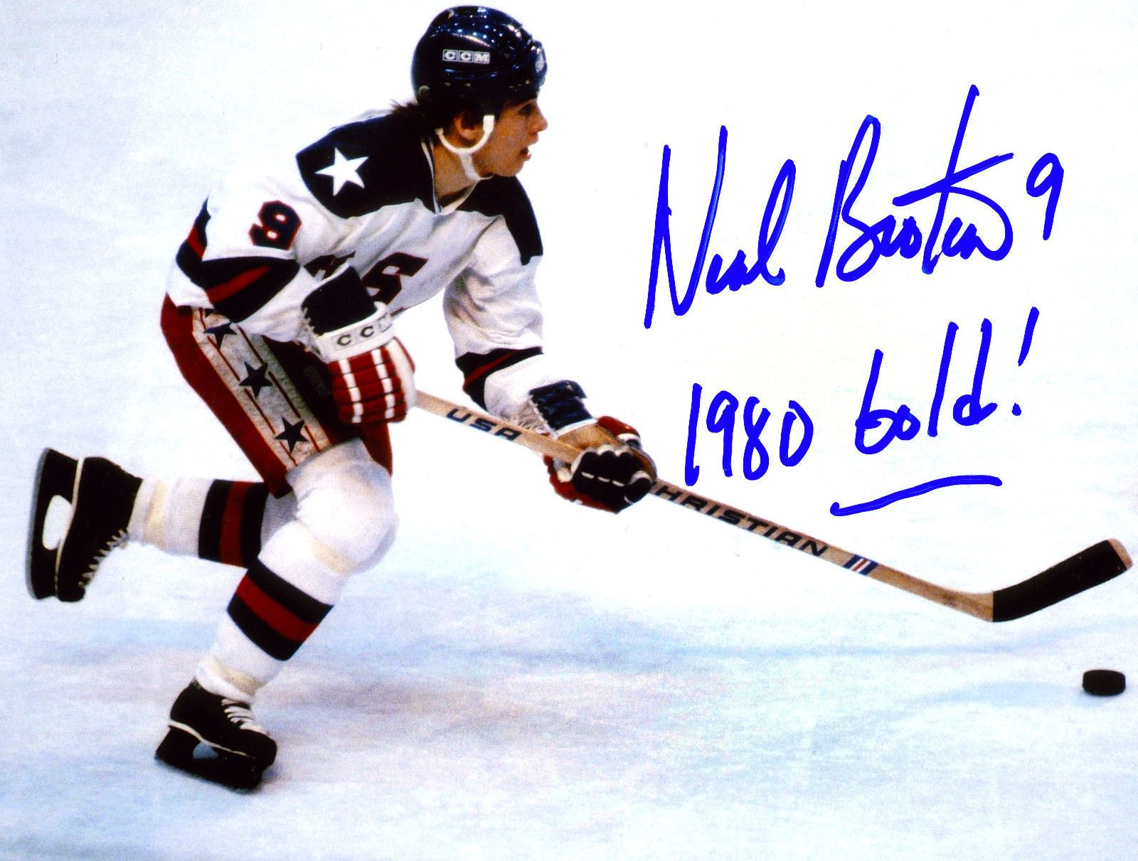 Neal Broten USA 1980 Gold Medal Olympian Signed 8x10 Photo