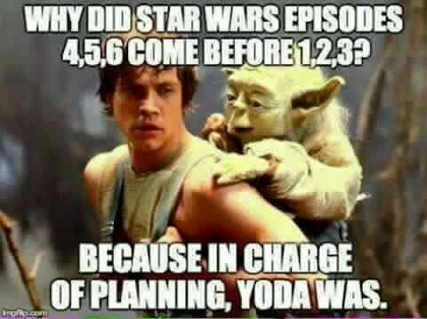 Why Did Starwars Episodes 4 5 6 Come Before 1 2 3 Because In