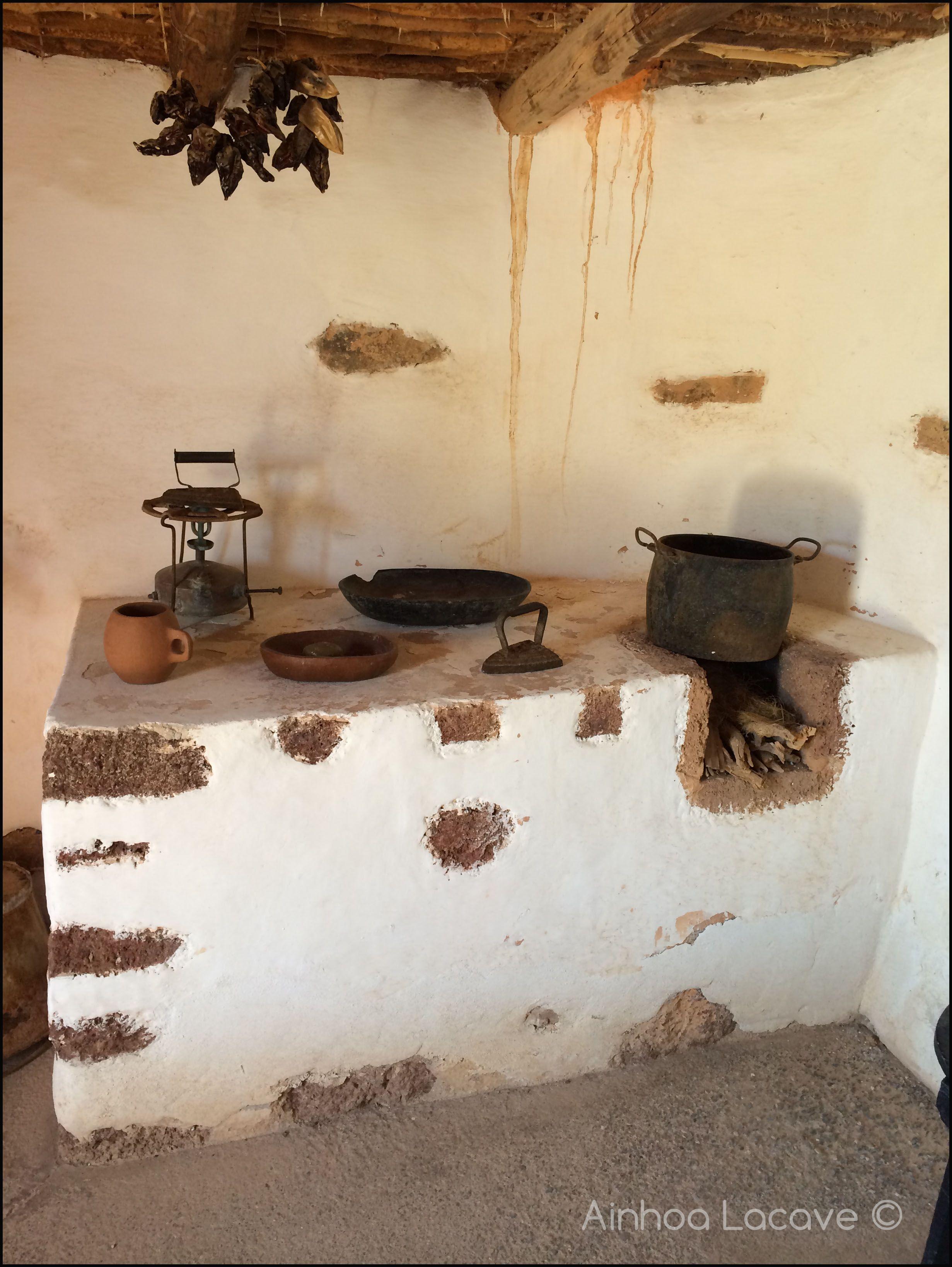 Cocina antigua. Vivienda majorera. Ecomuseo La Alcogida. Tefía ...