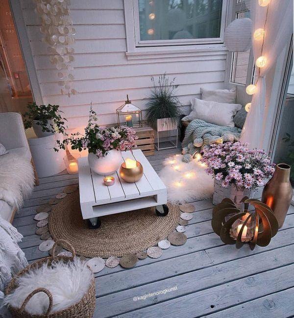 Como Decorar Con Velas La Casa Muero De Amor Por La Deco Balcon Del Apartamento De Decoracion Decoracion De Terrazas Pequenas Decoracion De Patio