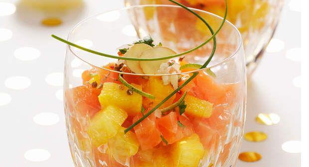 Salade de cœur de saumon fumé et d'ananasVoir la recette de la Salade de cœur de saumon fumé et d'ananas >>