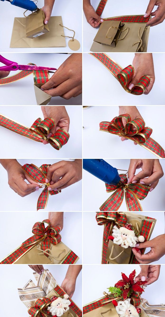 how to make christmas bag out of wrapping paper