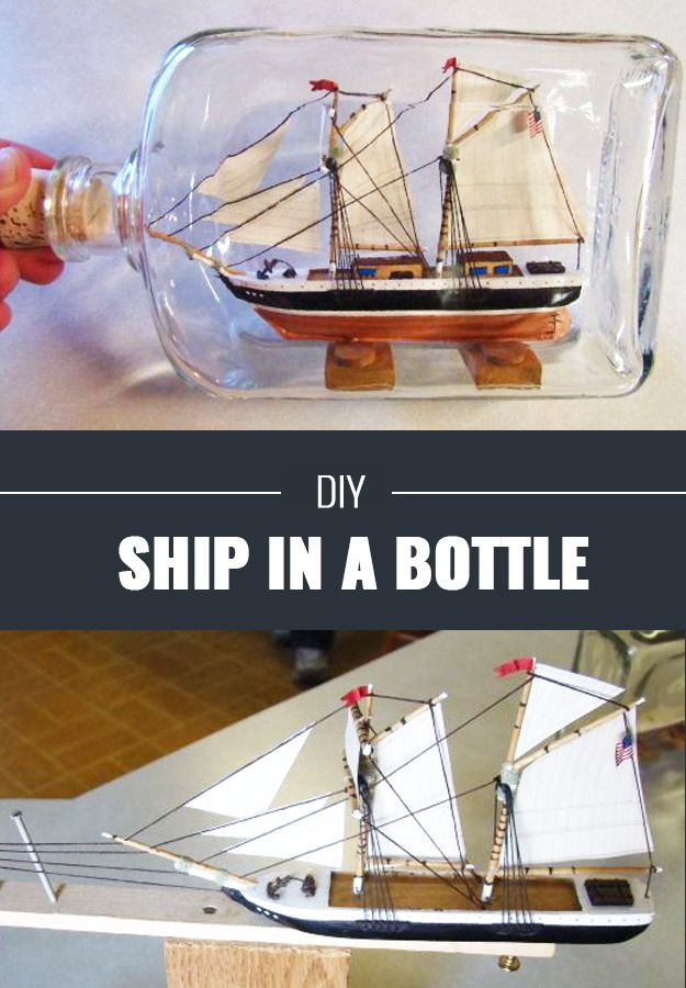 Cool DIY Crafts for Teens - Ship In A Bottle DIY - Boys and Girls Love
