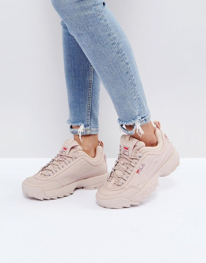 7d58c195736  119 - Fila Disruptor Low Sneakers In Nude - EVERYSTORE