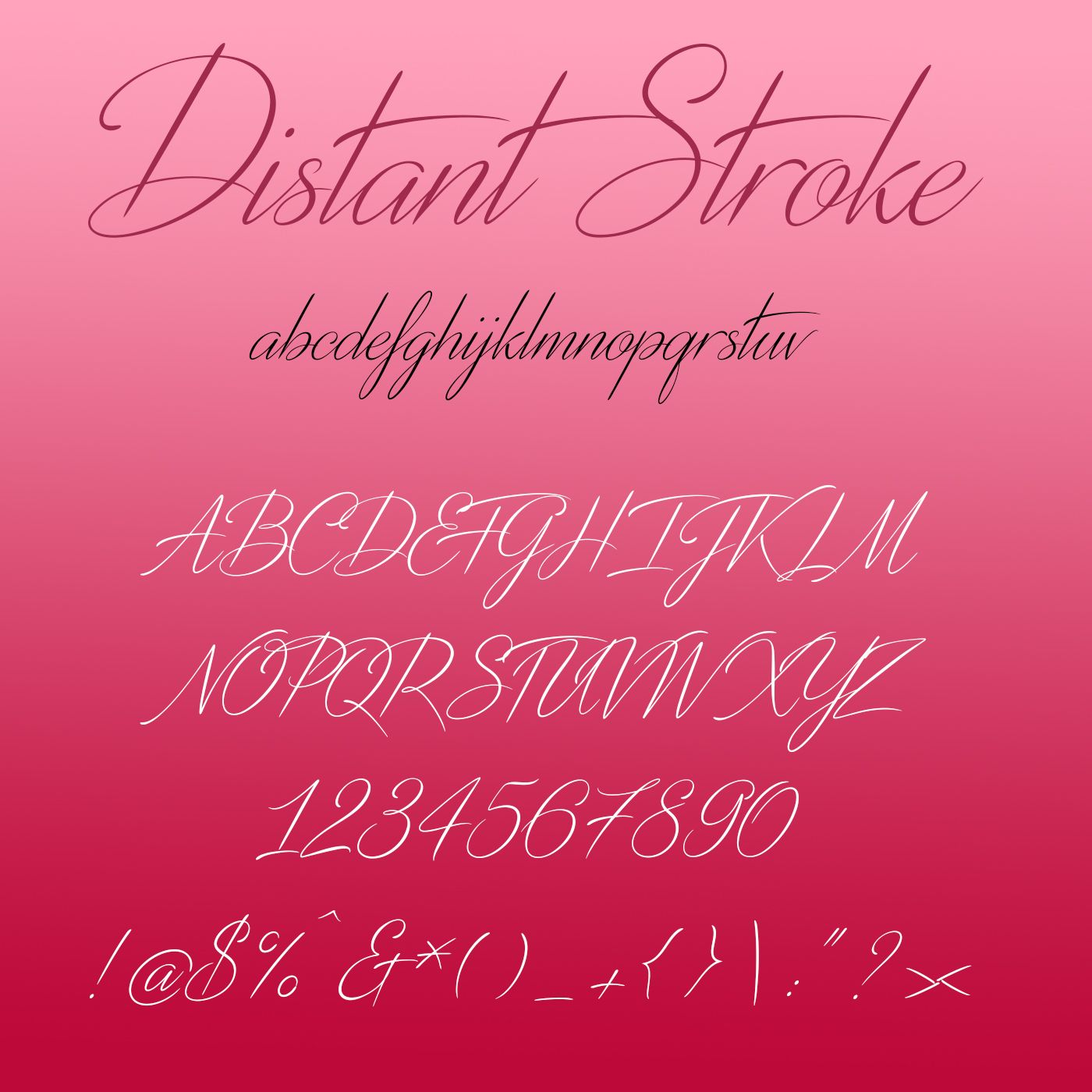 Distant Stroke a clean and breezy handwritten font