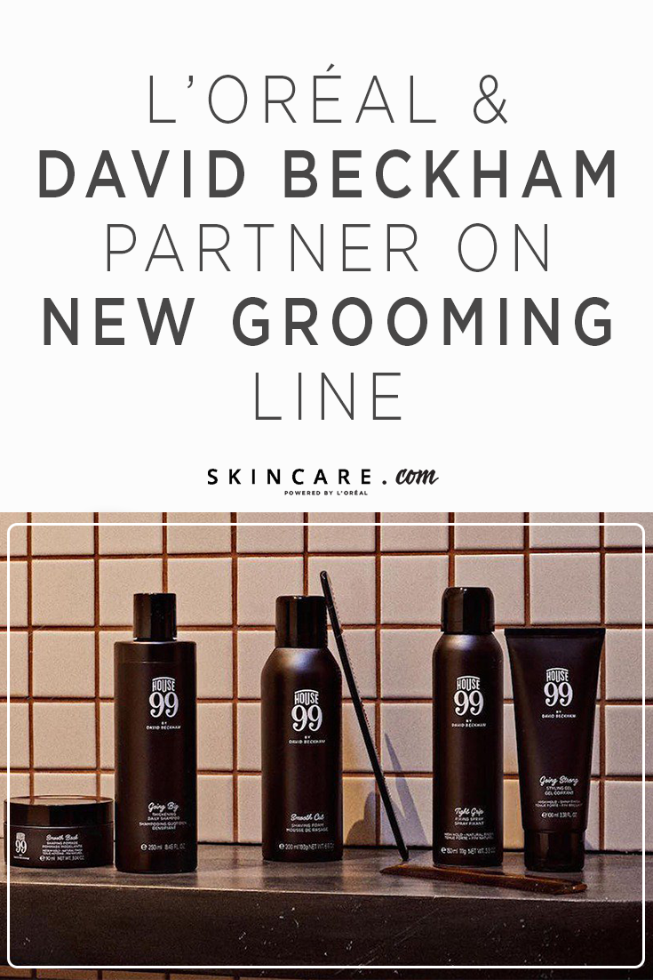 L'Oréal and David Beckham Partner on New Grooming Line in 2019